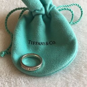 Tiffany & Co Silver 1837 Ring Size 5.5